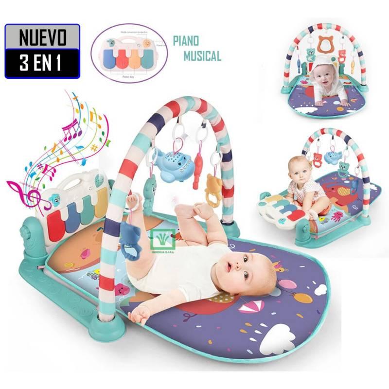 IDEAL - Gimnasio Musical 3 en 1 con Piano y Toys