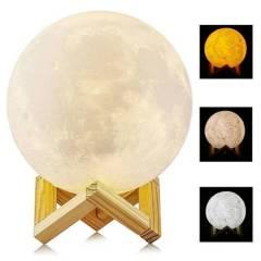 OTTOWARE - Lámpara Luna 3D Led Recargable 15cm