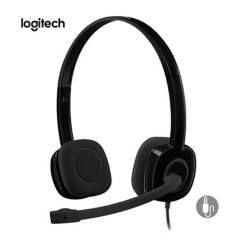 LOGITECH - Audifono Logitech H151 Cable 3.5 mm con Micrófono y Controles