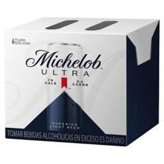 MICHELOB ULTRA - Six Pack Cerveza Michelob Ultra 355ml