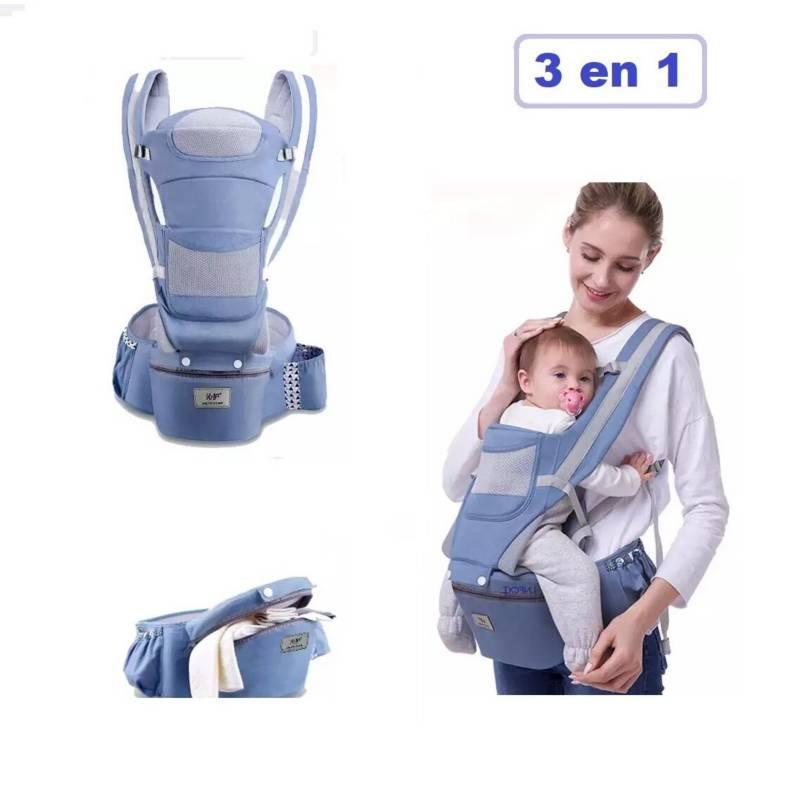 GENERICO - Canguro para Bebe Ergonómico con Asiento 3 en 1