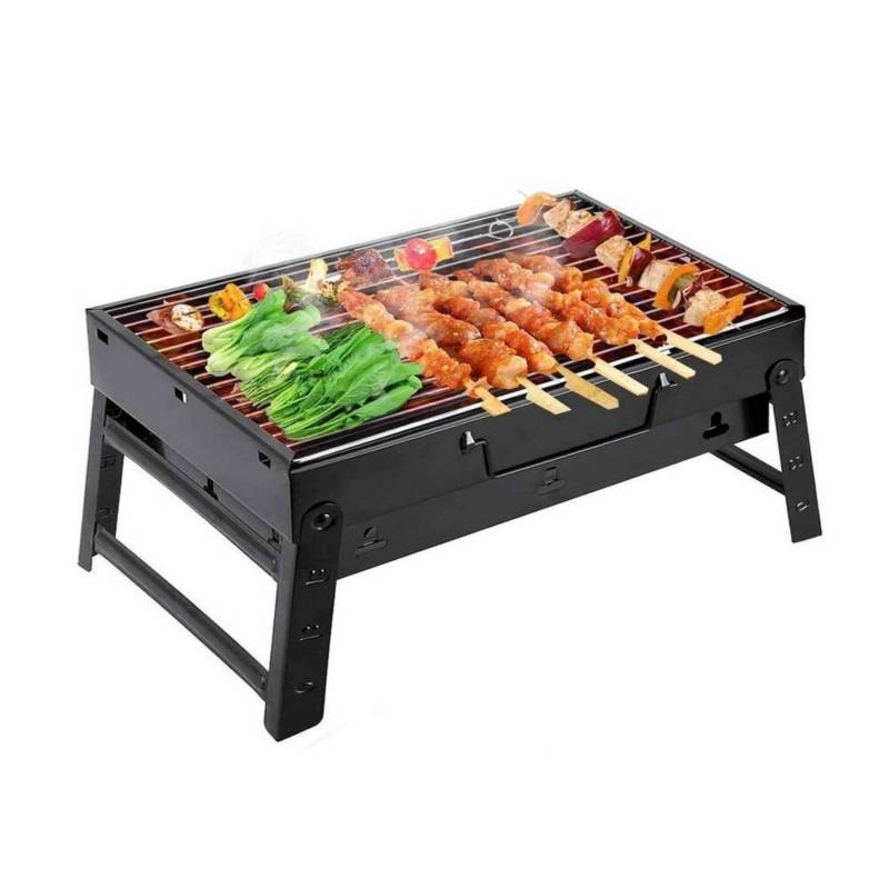 OTTOWARE - Parrilla BBQ Portátil Plegable de Mesa