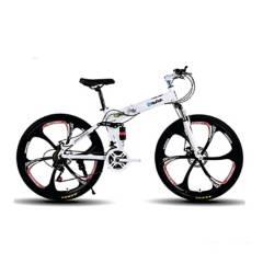 GENERICO - Bicicleta Montañera 21Cambios Plegable - Blanco