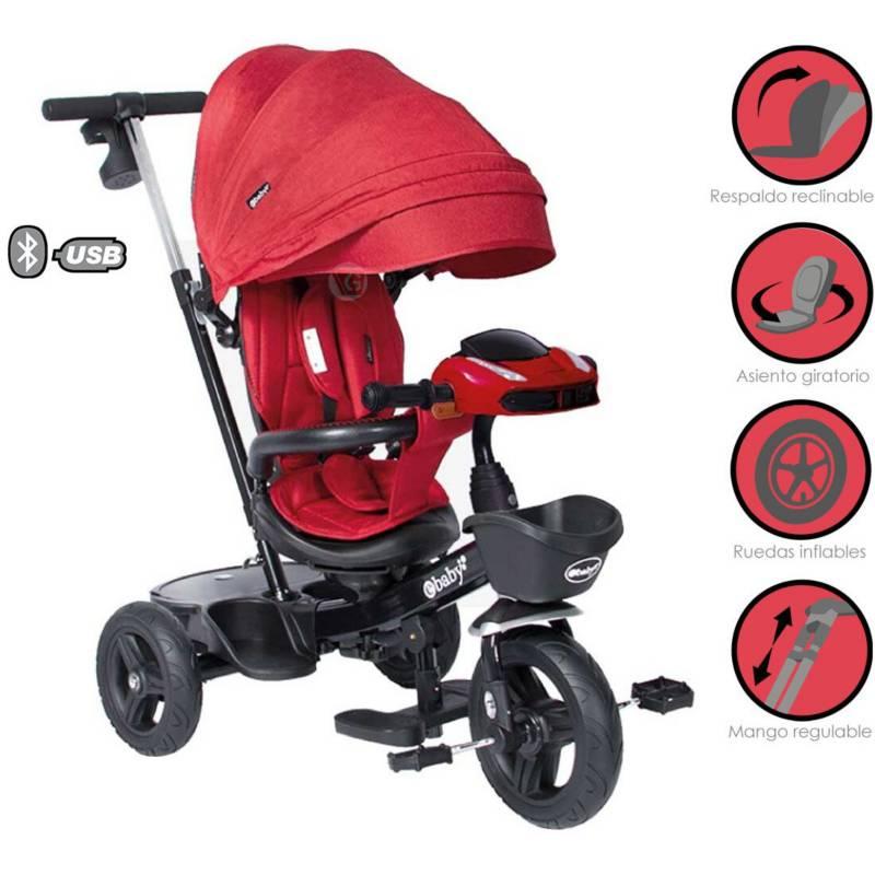 EBABY - Triciclo Guiador Aria 334 Rojo