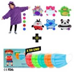 SM - Combo Polera Huggle Pets + 3 Pliegues Colores