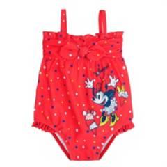 DISNEY - Ropa de Baño Entera Minnie Roja Bebé