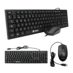 TEROS - Kit Teclado + Mouse Te8700 Cableado Español