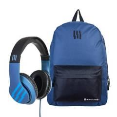 BLACK SHEEP - Pack Escolar Azul Audífonos Over Ear + Mochila