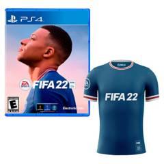 EA - Fifa 22 + Polo Azul S Playstation 4 Latam