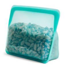 STASHER - Bolsa Silicona de Platino Stand Up - Aqua