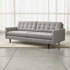 CRATE & BARREL - Sofa Petrie Gris
