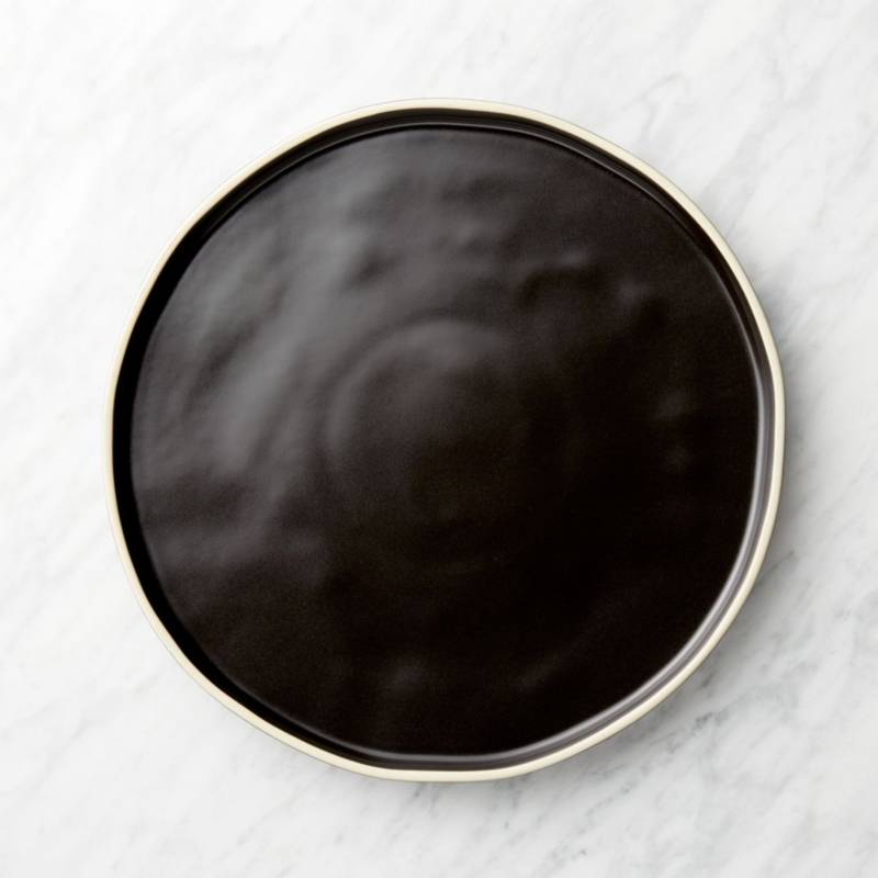 CRATE & BARREL - Plato de Fondo Sloan Negro