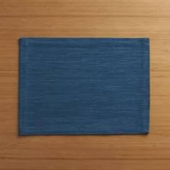 CRATE & BARREL - Individual de tela Glasscloth Azul