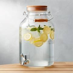 CRATE & BARREL - Dispensador de Bebidas de Acrílico