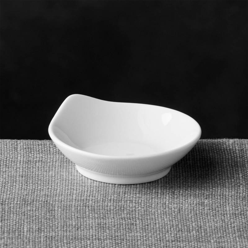 CRATE & BARREL - Mini Plato de Porcelana Redondo con Lágrima