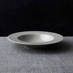 CRATE & BARREL - Bowl Bajo Staccato Gris