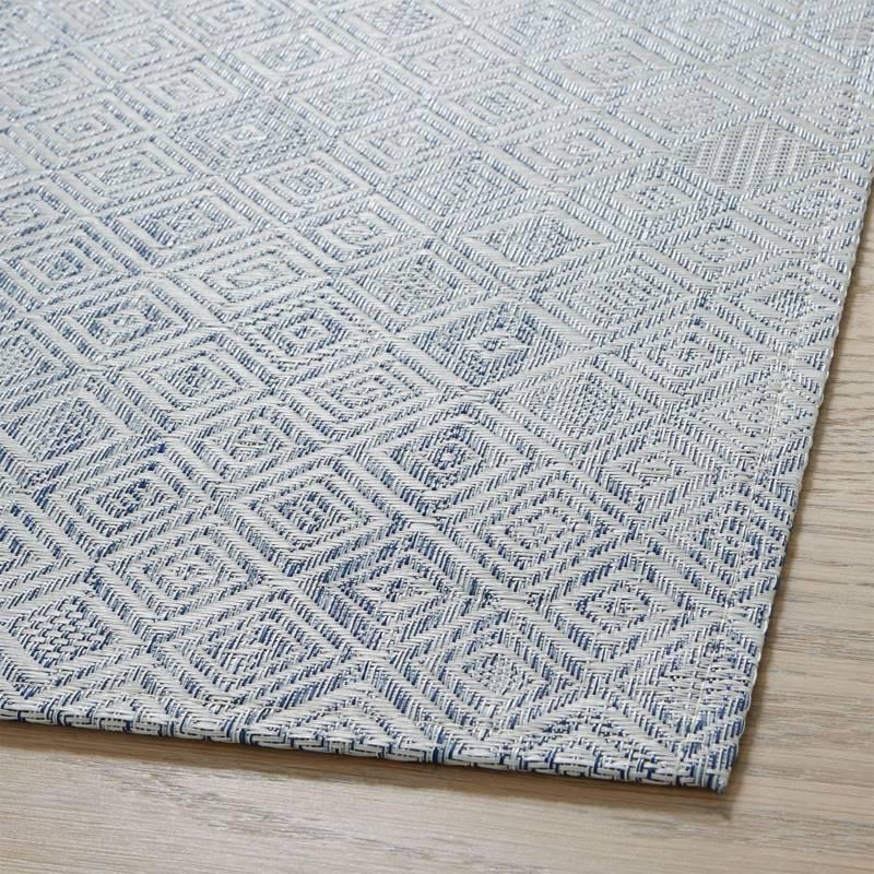 CRATE & BARREL - Tapete para Piso Tejido Chilewich Mosaic Azul 89x122cm