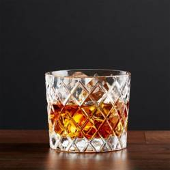 CRATE & BARREL - Vaso Tramado para Whisky