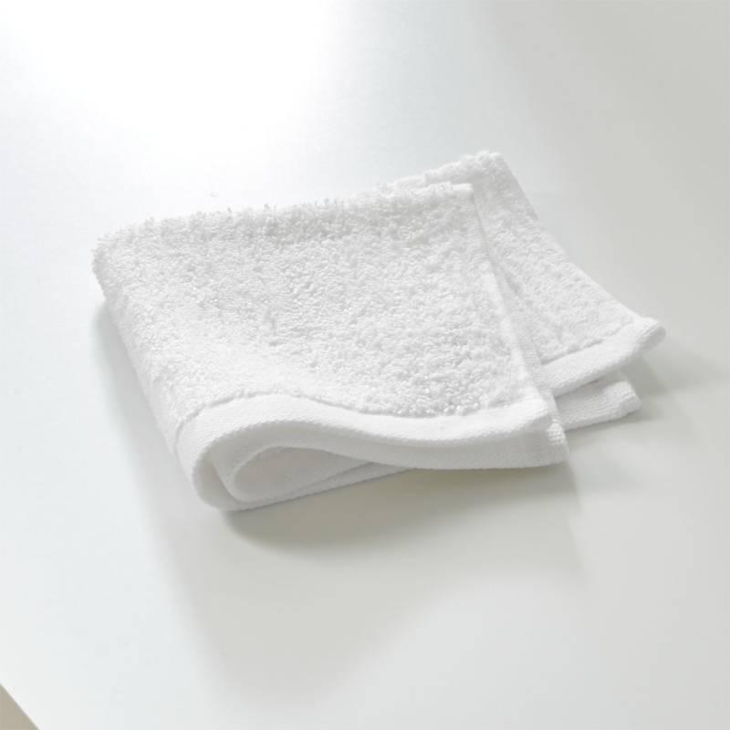CRATE & BARREL - Toallita Acanalada Blanca