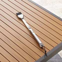 CRATE & BARREL - Cepillo para Pincelar para Parrilla de Acero Inoxidable