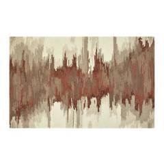 CRATE & BARREL - Alfombra Abstracta de Mezcla de Lana Birch Terracota 152x244cm