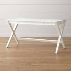 CRATE & BARREL - Escritorio Spotlight Blanco de 147 cm