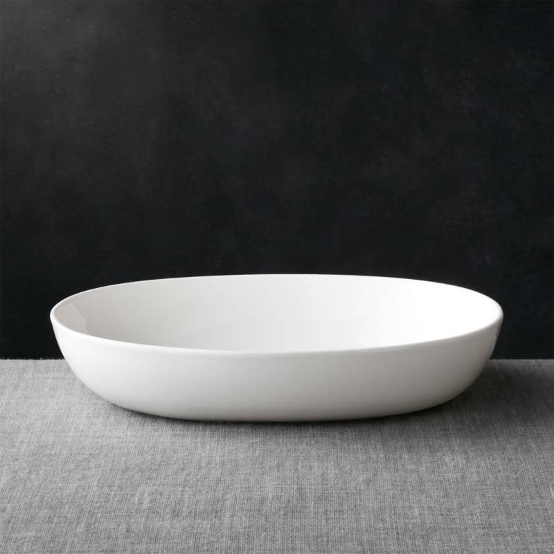 CRATE & BARREL - Bowl Para Servir Bennett Ovalada Grande