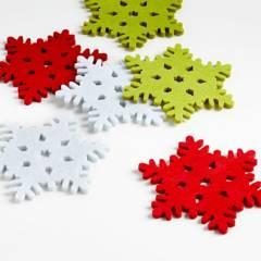CRATE & BARREL - Set de 6 Portavasos de Tela Variados Copo de Nieve