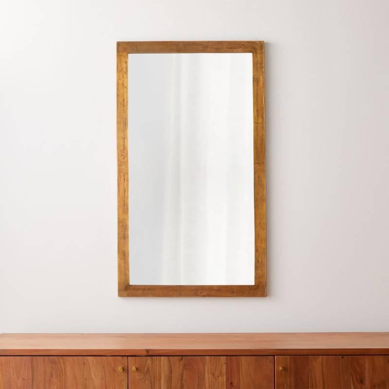 CRATE & BARREL - Espejo de Pared Element de Latón