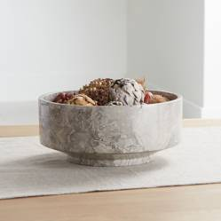 CRATE & BARREL - Bowl de Mármol Flint Gris