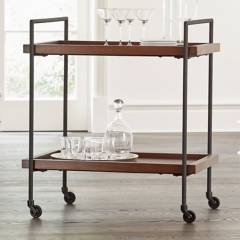 CRATE & BARREL - Carrito Bar Rodante Beckett Negro