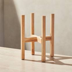 CRATE & BARREL - Soporte de Madera para Dispensador de Bebidas Merge