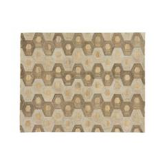 CRATE & BARREL - Alfombra de Patrón Hexagonal Gramercy Dorado 244x305cm