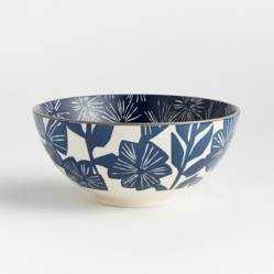 CRATE & BARREL - Bowl Floral Mai Azul 19cm
