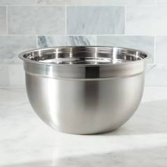 CRATE & BARREL - Bowl de Acero Inoxidable 5qt
