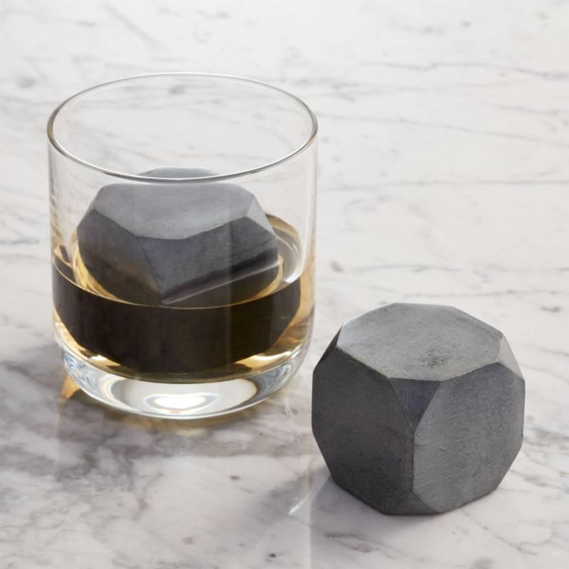 CRATE & BARREL - Juego de 2 Rocas para Whisky Grandes