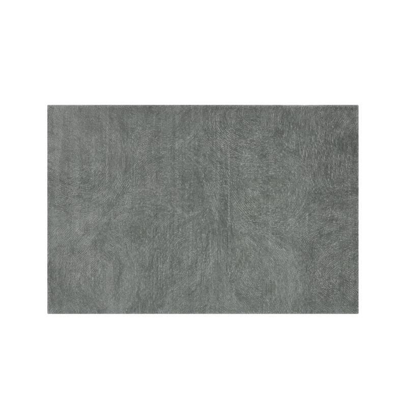 CRATE & BARREL - Alfombra de Lana Alfredo Gris 152x244cm