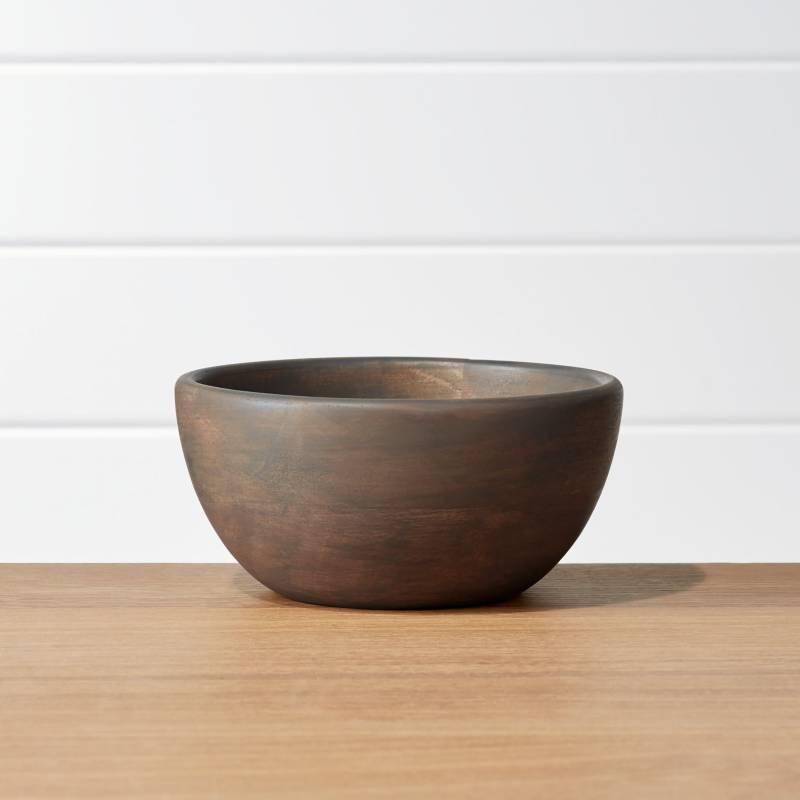 CRATE & BARREL - Bowl De Madera Gris Brooks