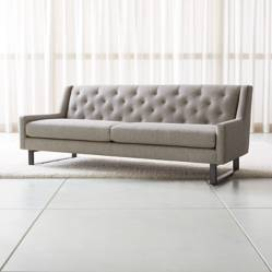 CRATE & BARREL - Sofá Jourdan Tufted