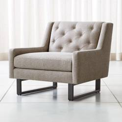 CRATE & BARREL - Silla Jourdan Tufted