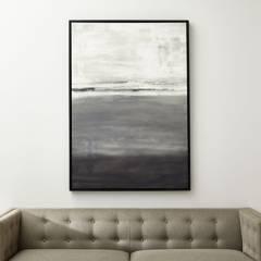 CRATE & BARREL - Print Gray Horizon