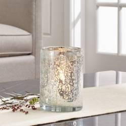 CRATE & BARREL - Portavelas para velas votivas de Burbujas Plata