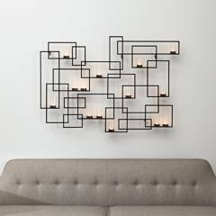 CRATE & BARREL - Portavelas De Pared De Metal Circuit