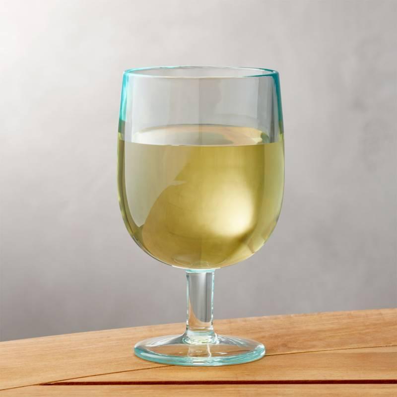CRATE & BARREL - Copas de Vino Apilables Aqua 236ml