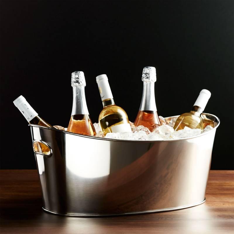 CRATE & BARREL - Hielera para Bebidas Ovalada