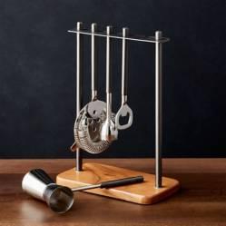 CRATE & BARREL - Set de utensilio para bar Fenton