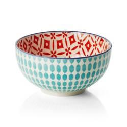 CRATE & BARREL - Bowl para Arroz Yuki Aqua 15cm