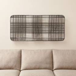 CRATE & BARREL - Adorno de Pared de Canasta de Metal Tobacco