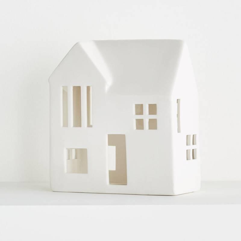 CRATE & BARREL - Mansión de cerámica blanca