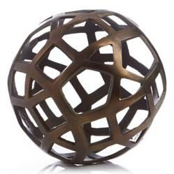 CRATE & BARREL - Bola Metálica decorativa Geo Grande